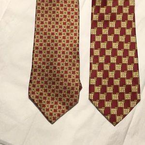 2 Men's Valentino ties 100% silk